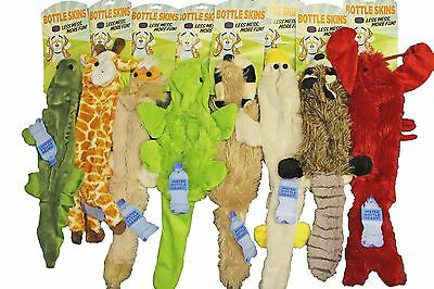 8 Bottle Skins Stuffing Free Dog Puppy Toys w/Squeakers JUST ADD A WATER BOTTLE