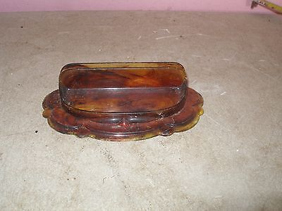 Vintage Tortoise Celluloid Comb & HAIR PIN Holder