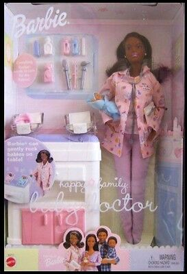 Barbie Happy Family Baby Doctor African American AA Includes 2 Babies 2002 RARE