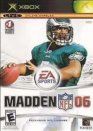 XBOX Madden NFL 06 2005 With Manual Live Online Enabled 2006 EA Sports