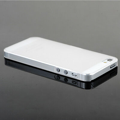 New 0.5mm Ultra Thin Matte Back Hard Plastic Case Cover For iPhone 5 5s White