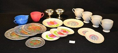ThriftCHI ~ Mixed Lot Of Vintage Metal & Plastic Childs Tea Cups & Saucers