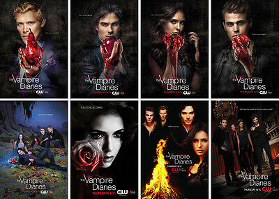 """Mini TV Poster (8 pcs) - The Vampire Diaries Series Two, 6""""x8.5 for each piece"""