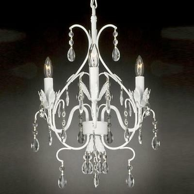 WROUGHT IRON CRYSTAL CHANDELIER LIGHTING TOLE FREE S/H!