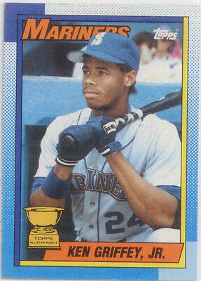 Ken Griffey Jr 1990 Topps All-Star Rookie Trading Card # 336-Lot of 9 Cards