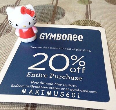 Gymboree 20% Off Entire Purchase Expires 5/13/15