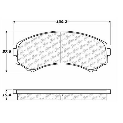 Disc Brake Pad-Posi-Quiet Extended Wear w/Shims & HrdWr Front Centric 106.08670