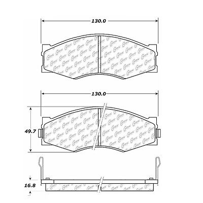 Disc Brake Pad-Posi-Quiet Extended Wear w/Shims & HrdWr Front Centric 106.02660