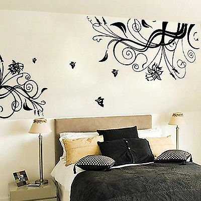 Flower Vine Removable Art Vinyl Quote Wall Sticker Decal Mural Home Decor