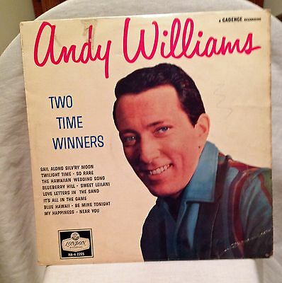 Vintage Andy Williams  Two Time Winners London Records HA-A 2203   LP  Album