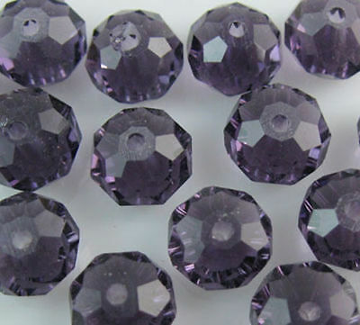 100pcs purple   exquisite Glass Crystal 3*4mm #5040 loose bead