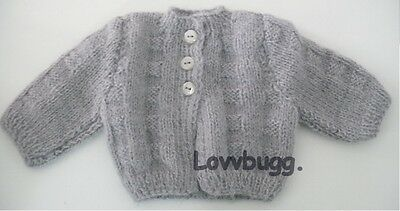 """Gray Sweater Clothes for 18"""" American Girl Doll Top Selection WIDEST SELECTION!"""