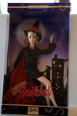 """BARBIE as """"BEWITCHED"""" 1960s TV SHOW-Samantha the witch -2001-Excellent Box-NRFB"""