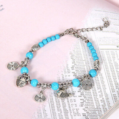 HOT Free shipping New Tibet silver multicolor jade turquoise bead bracelet S132D