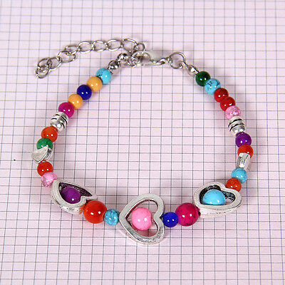 HOT Free shipping New Tibet silver multicolor jade turquoise bead bracelet S128D
