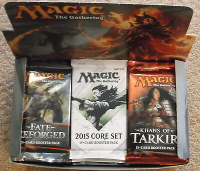 Magic The Gathering M15 Core Fate Reforged Khans Of Tarkir Booster Box Lot