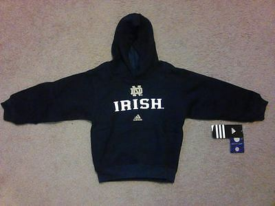 Notre Dame Fighting Irish adidas Pullover Hoodie Toddler size 2T New with Tags