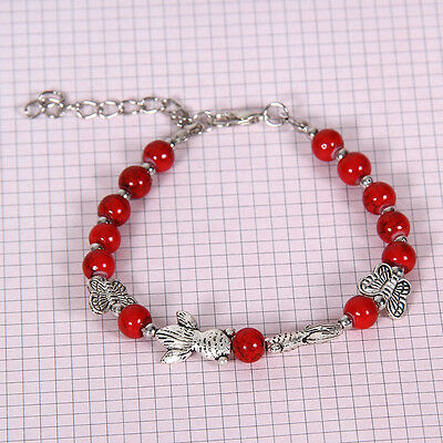 HOT Free shipping New Tibet silver multicolor jade turquoise bead bracelet S109D