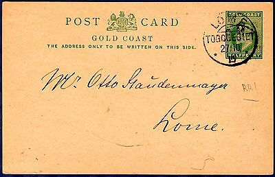Gold Coast / Togo 1915 Edward VII reply card locally sent Lome. A rare item