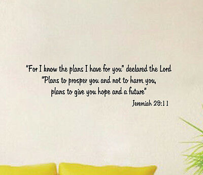 Plan Jeremiah Art Lettering Character Mural Wall Quote Sticker Decal Inspiration