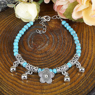 HOT Free shipping New Tibet silver multicolor jade turquoise bead bracelet S83D