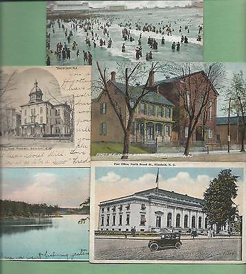 Lot of 5 Different Vintage NEW JERSEY Postcards--GOOD VALUE!