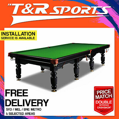 12Ft Full Size Luxury Timber Slate Snooker/billiard Table!sale! Was$8999.99