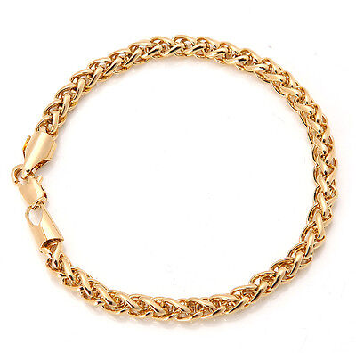Elegant 18K Solid Yellow Gold Filled GF Bracelet Chain For Man As Gifts B147