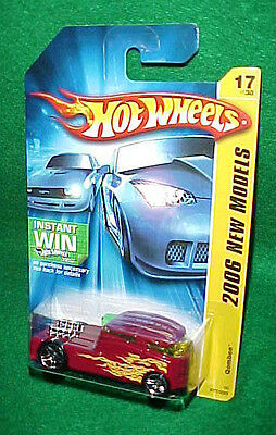 HOT WHEELS - 2006 NEW MODELS 17/223 QOMBEE Red with Flames with PR 5's