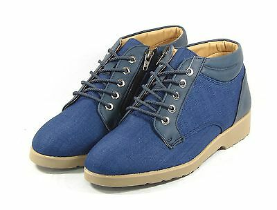 MHOUSE Men Ankle Boots Shoes Formal Casual Oxford Dress Sneakers Navy US size 8