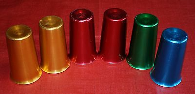 6 Vintage Retro ROYAL SEALY  Anodized Aluminum Tumblers/Glasses Japan