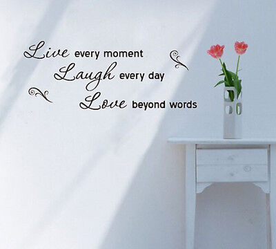 LIVE LAUGH LOVE Art Letter Character Mural Wall Quote Sticker Decal Inspiration