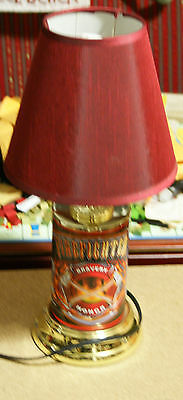 Bravery & Honor Firefighter FD Lamp w/Red Lamp Shade Fire Truck Dalmation