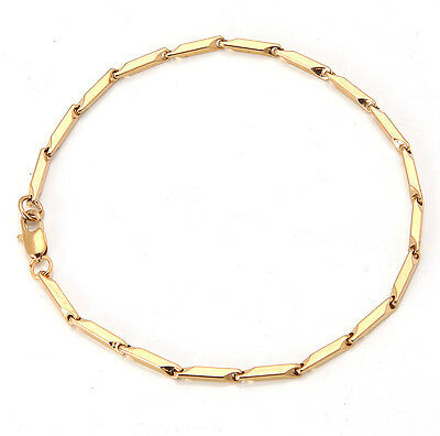 Elegant 18K Solid Yellow Gold Filled GF Bracelet Chain For Man As Gifts B1333
