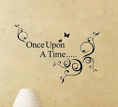 Once Upon A Time Art Letter Character Mural Wall Quote Sticker Decal Inspiration