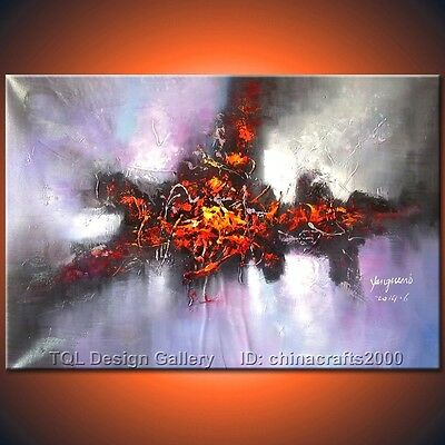 50% OFF Artist Signed Huge Original Modern Abstract Art Canvas Oil Painting #9