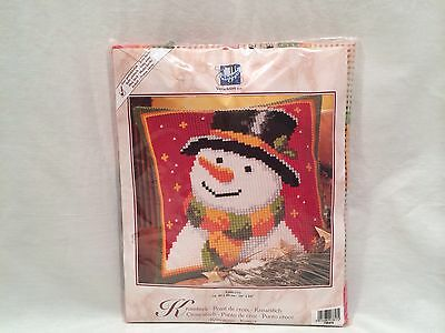Snowman Counted Cross Stitch Kit New in Package 1200/773 Verachtert