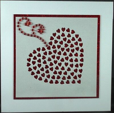 Hand Made Greeting Card, VALENTINE / LOVE - SQUARE 2