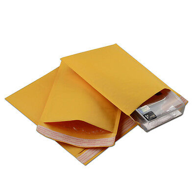 500 #000 4x8 'Blank' Kraft Bubble Mailer Self Seal Lined Envelope Free Shipping