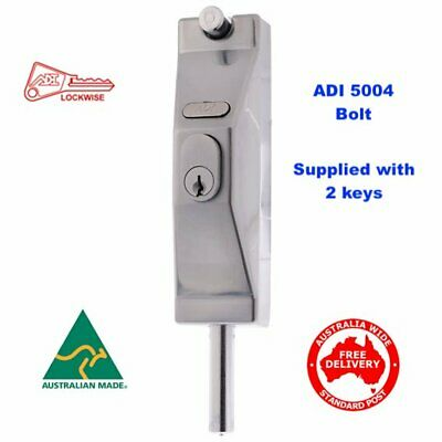 ADI High Security Locking Bolt 5004-Australian Made Quality-Free Postage