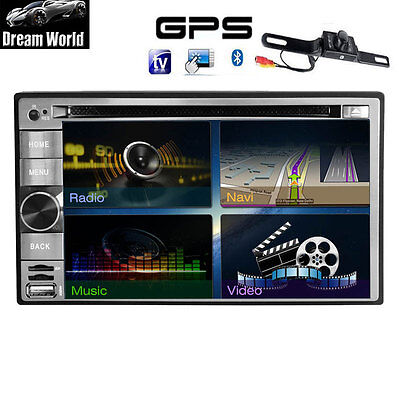"""GPS Navigation 6.2"""" Double 2Din Car DVD Radio Stereo Android 4.2 WiFi BT+Camera"""