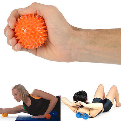 Msd PALLINA MASSAGGIO 6 CM ARANCIO SPIKY mano piede yoga fitness Massage Ball