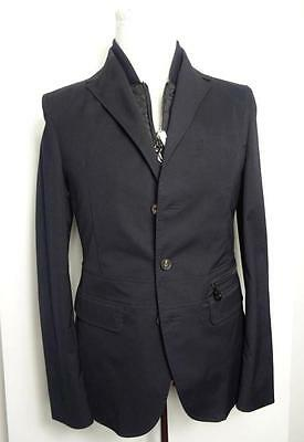 New Men Salvatore Ferragamo Dark blue double jacket with vest 50 IT 40 US M