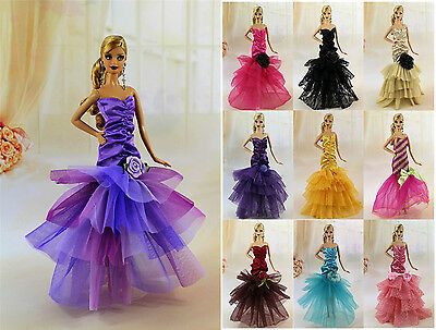 3* Random Diffirence Style Fashion Clothes/Outfit/Dress For Barbie Doll