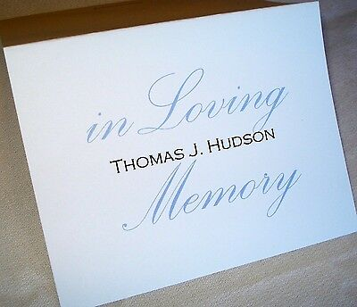 12 Personalized Custom Thank You Note Cards & Envelopes Funeral Memory Card