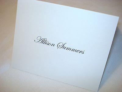 50 Personalized Note Cards Stationery, Blank Inside Thank You Notes & Envelopes