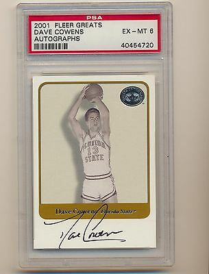 2001 Dave Cowens Autograph Fleer Greats Of The Game PSA 6 720