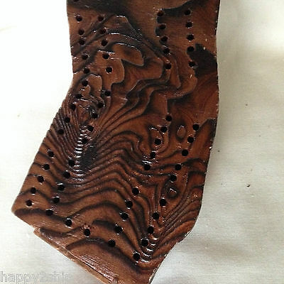 Vintage Cribbage Board California State Shape Trees of Mystery Shrine Redwood