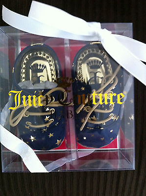 NIB Juicy Couture baby shoes blue size 9-12 months