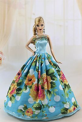 Fashion Princess Party Dress/Wedding Clothes/Gown For Barbie Doll y32
